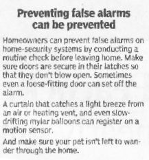 Preventing false alarms can be prevented